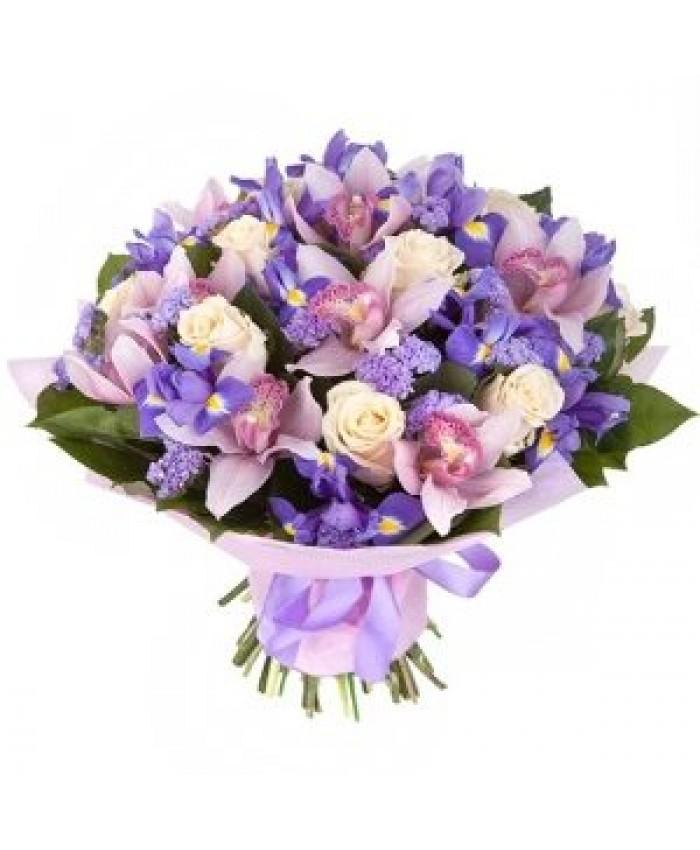 """Букет с орхидеями """"Бархатный сезон"""""""