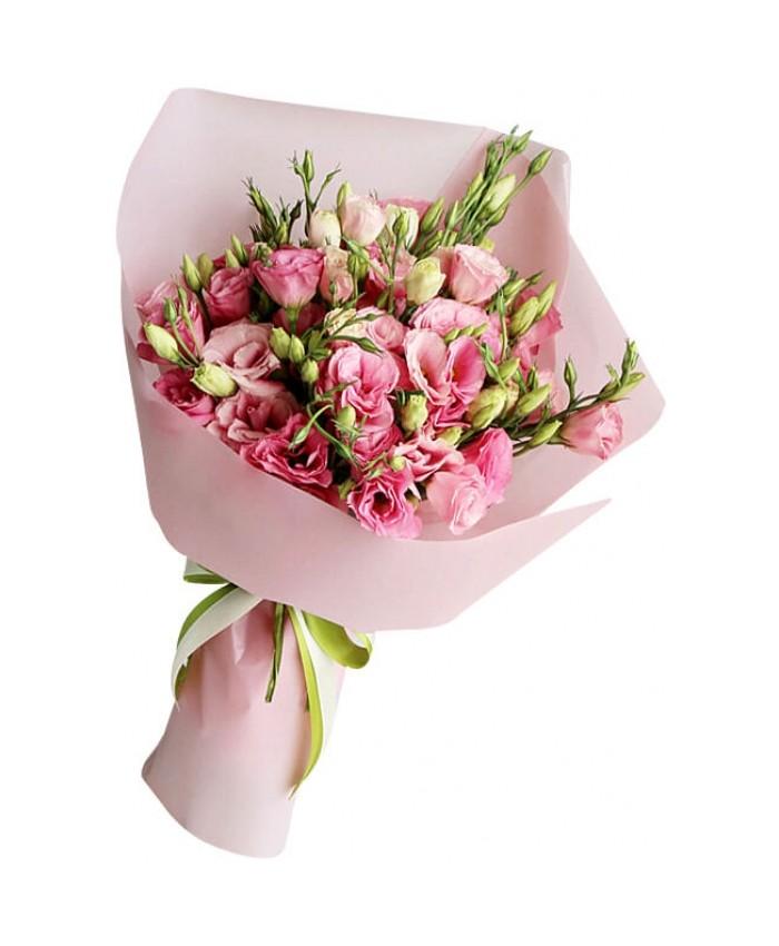 Букет из 9 розовых эустом