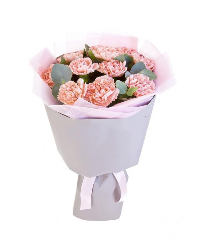 Букет из 11 розовых гвоздик