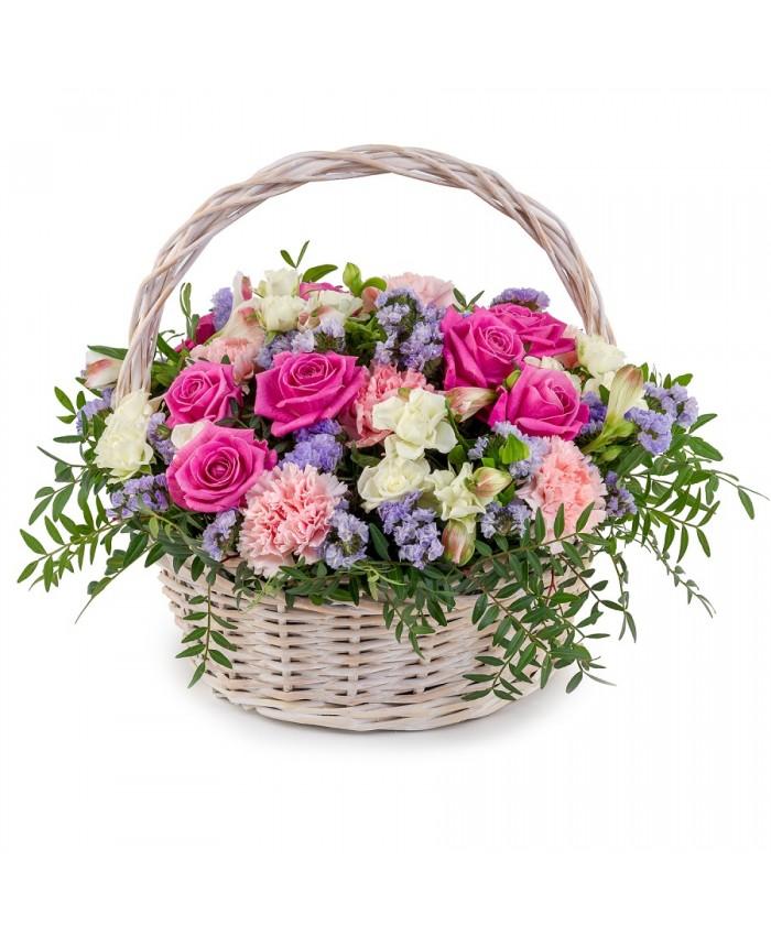 """Корзина с цветами """"Тебе на радость"""""""