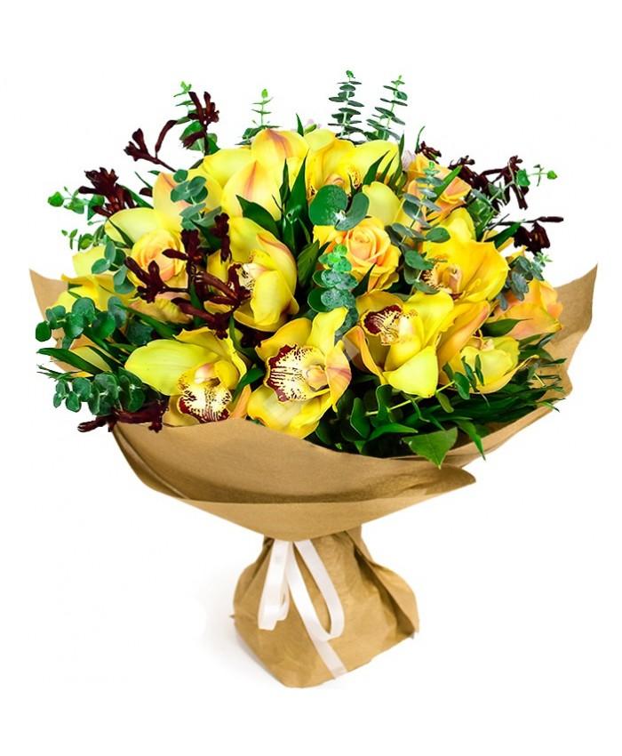 """Букет из орхидей """"Солнечный"""""""