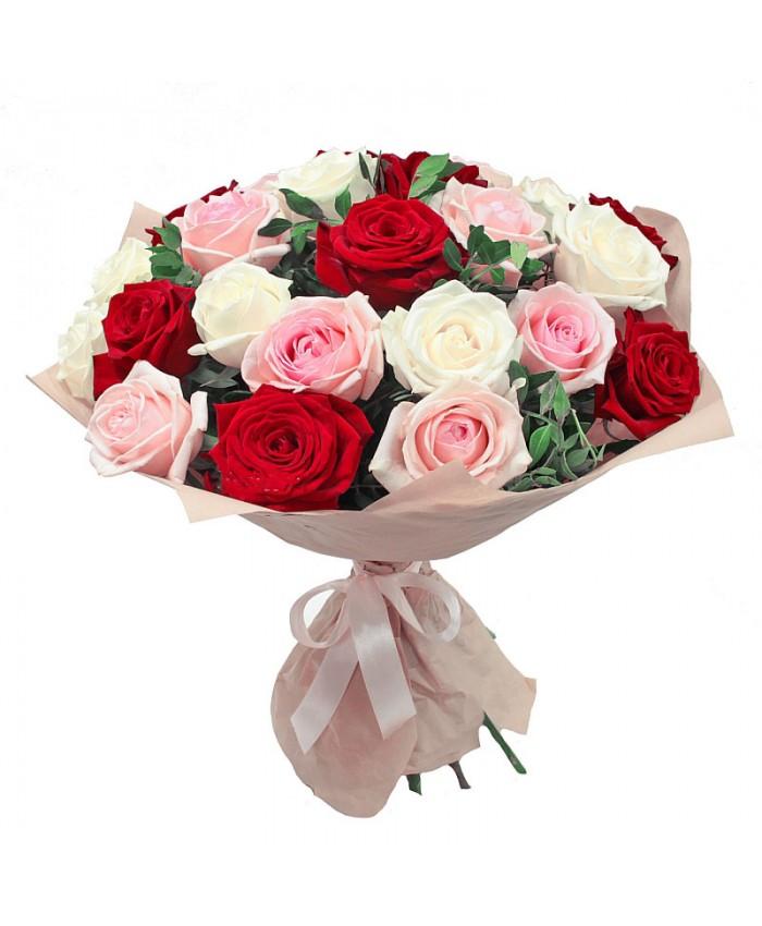 """Букет из 23 роз """"Улыбка любимой"""""""