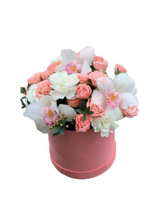 """Цветы в цилиндре """"Ноты души"""""""