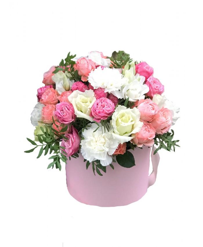 """Цветы в цилиндре """"Французский поцелуй"""""""