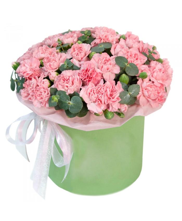 """Цветы в цилиндре """"Касание любви"""""""